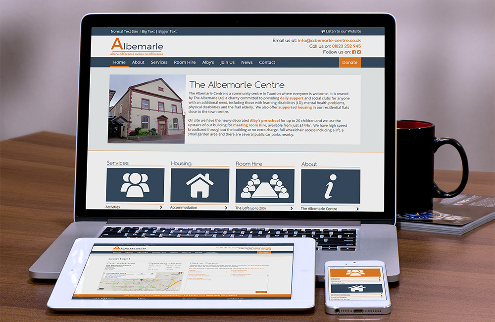 Albemarle Centre - Accessible charaity website
