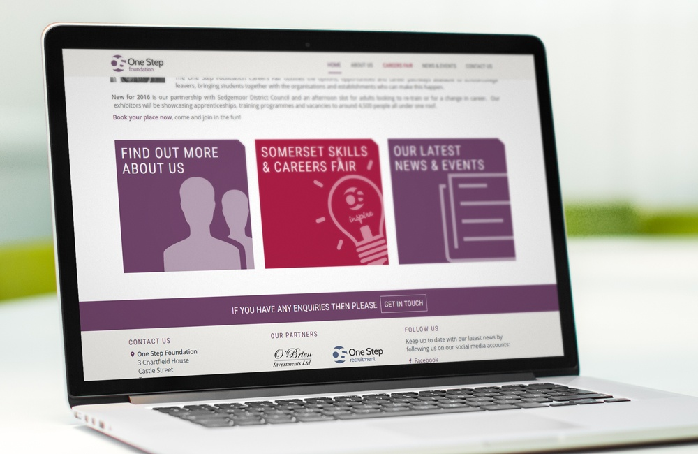 One Step Foundation - Website for the foundation arm of One Step Recruitment