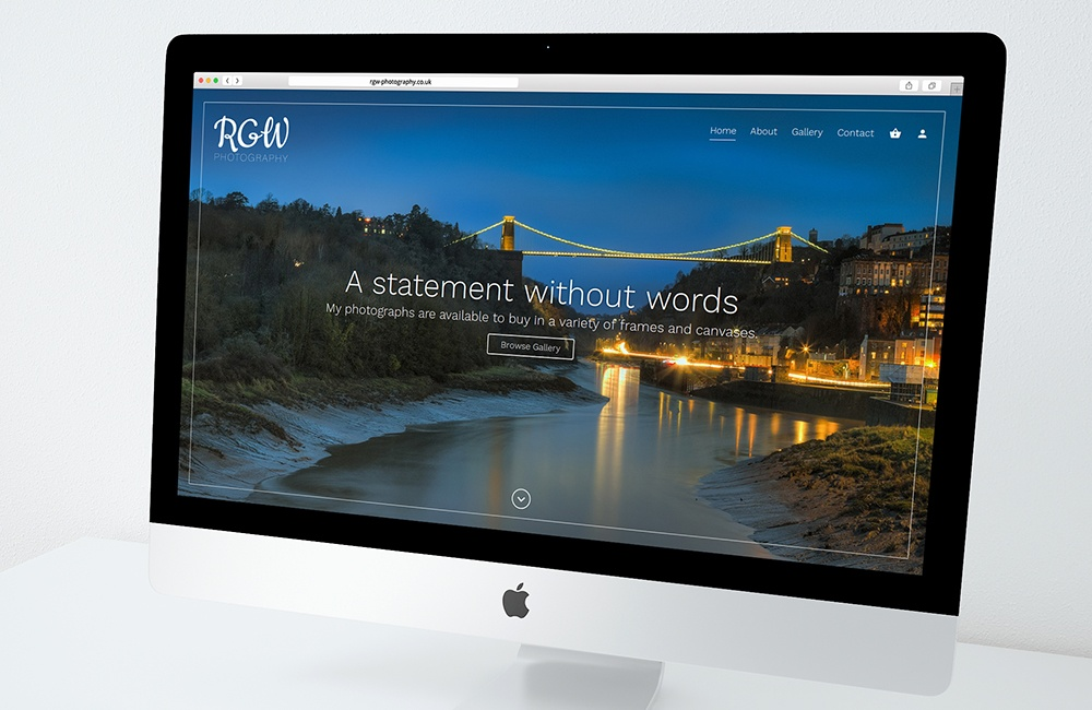 RGW Photography - Photography eCommerce website